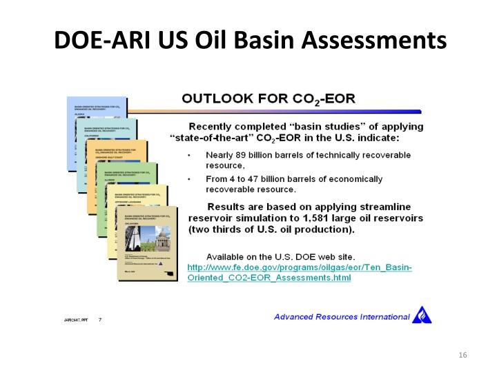 DOE-ARI US Oil Basin Assessments