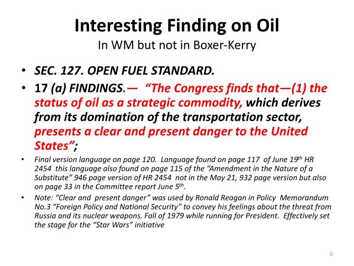 Interesting Finding on Oil