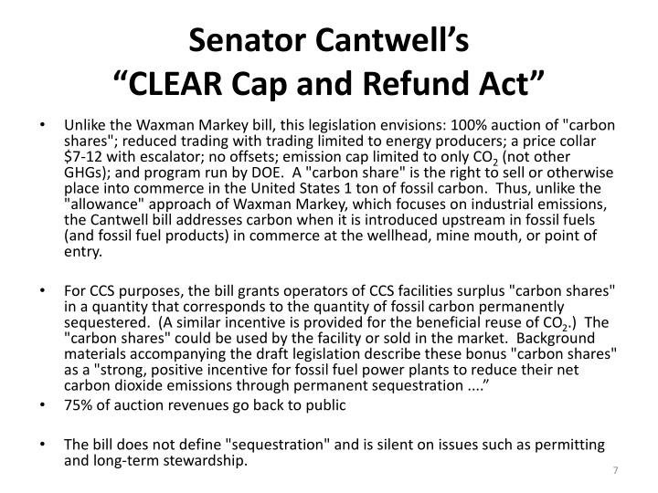 Senator Cantwell's