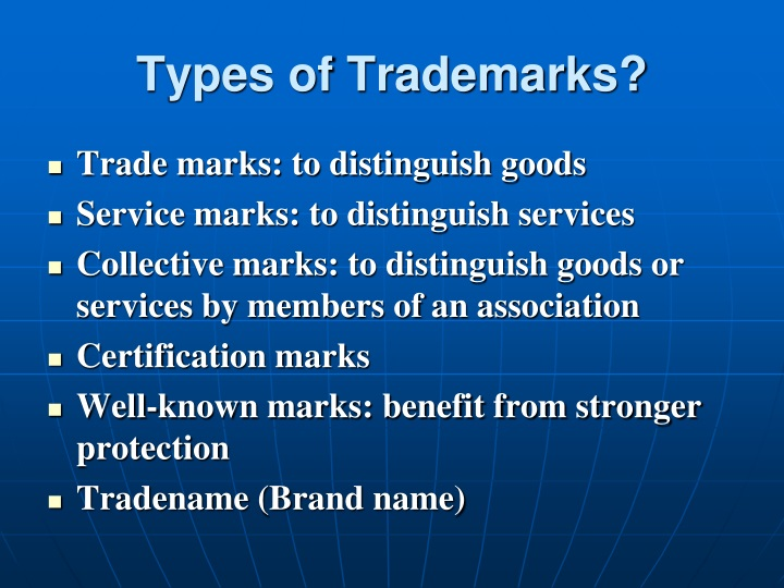 Types of Trademarks?