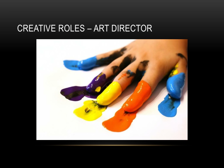 Creative roles – Art director