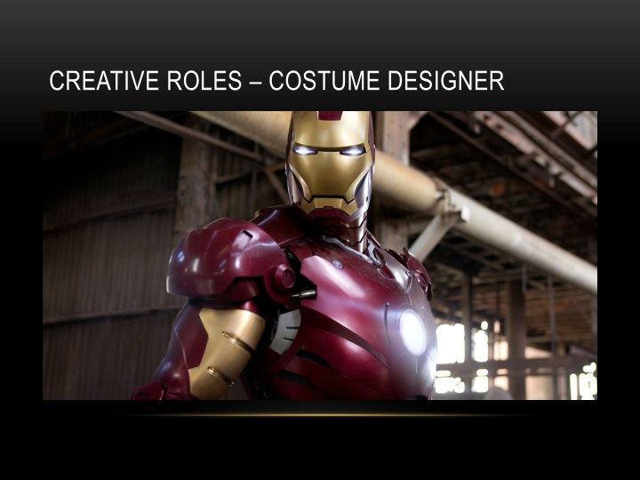 Creative roles – costume designer