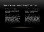 technical roles lighting technician