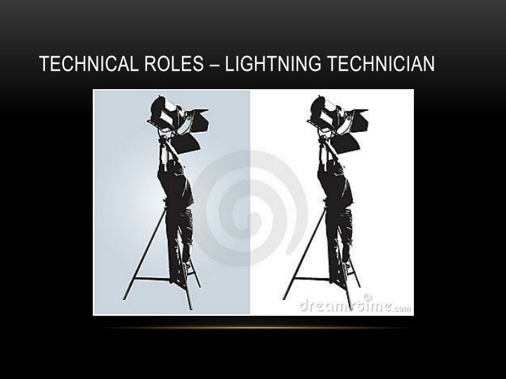 Technical roles – lightning technician