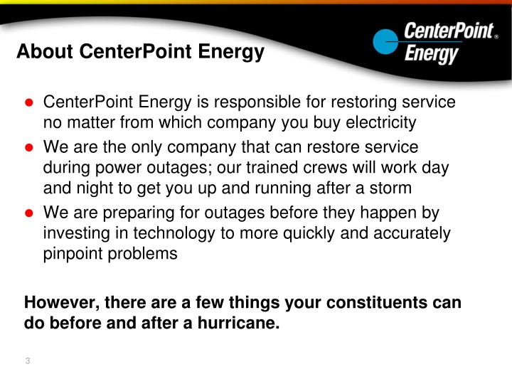 Centerpoint Energy Power Outage Number - Reliant Energy