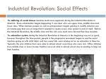 industrial revolution social effects