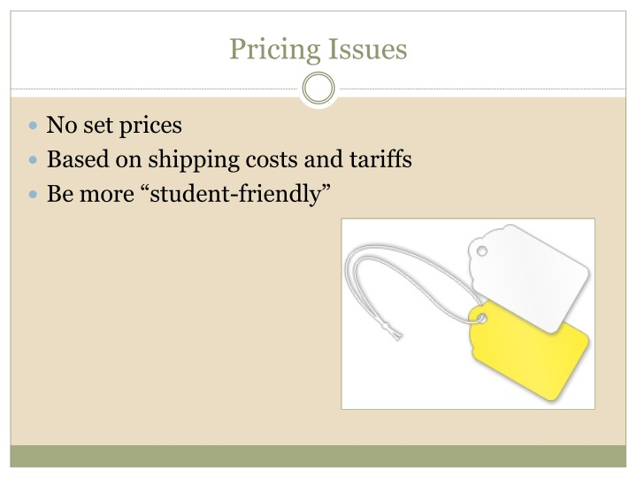 Pricing Issues