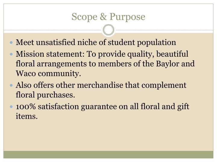 Scope & Purpose