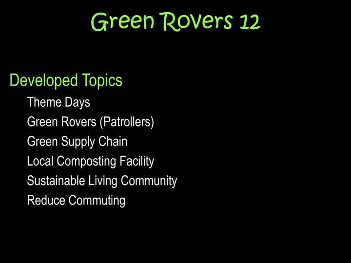Green rovers 12