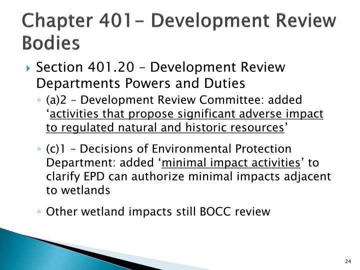 Chapter 401- Development Review Bodies