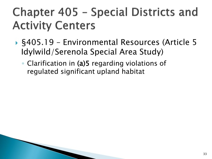 Chapter 405 – Special Districts and Activity Centers