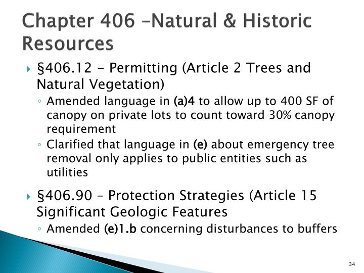Chapter 406 –Natural & Historic Resources