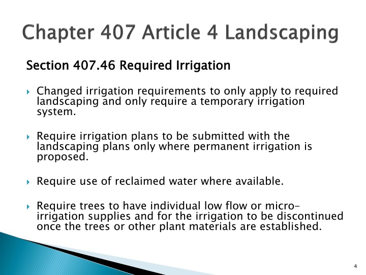Chapter 407 Article 4 Landscaping