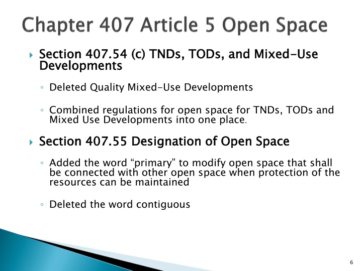 Chapter 407 Article 5 Open Space