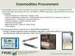 commodities procurement