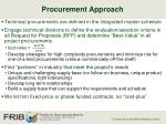procurement approach
