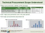 technical procurement scope understood