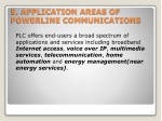5 application areas of powerline communications
