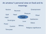 an amateur s personal view on food and its meanings