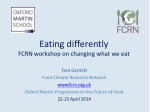 eating differently fcrn workshop on changing what we eat