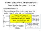 power electronics for smart grids s emi variable speed turbine