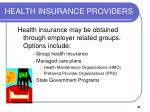 health insurance providers1