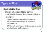 types of risk4