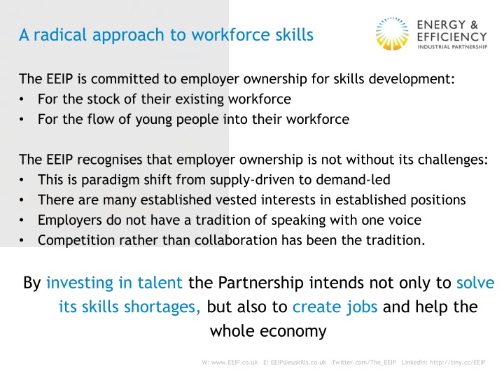 A radical approach to workforce skills