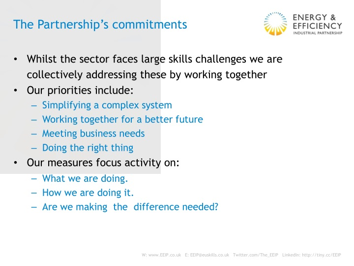 The Partnership's commitments