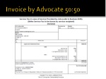 invoice by advocate 50 50