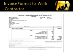 invoice format for work contractor