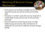 meaning of reverse charge mechanism