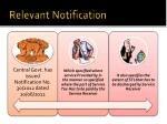 relevant notification