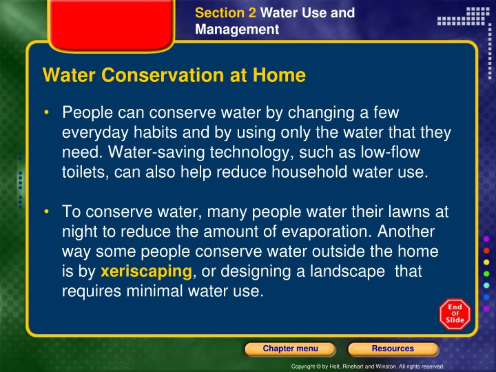 Water Conservation at Home