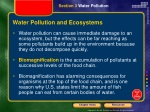 water pollution and ecosystems