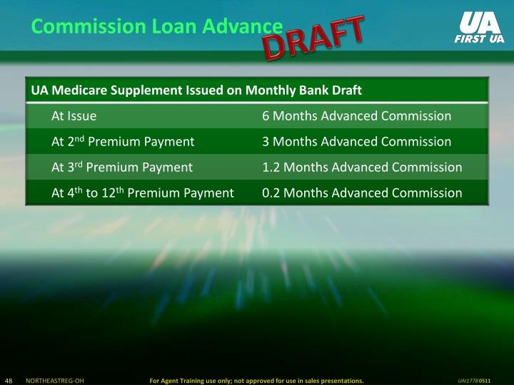 Commission Loan Advance