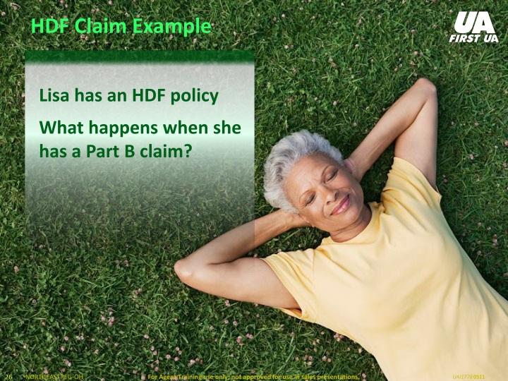 HDF Claim Example