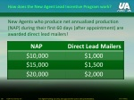 how does the new agent lead incentive program work