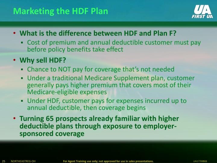 Marketing the HDF Plan