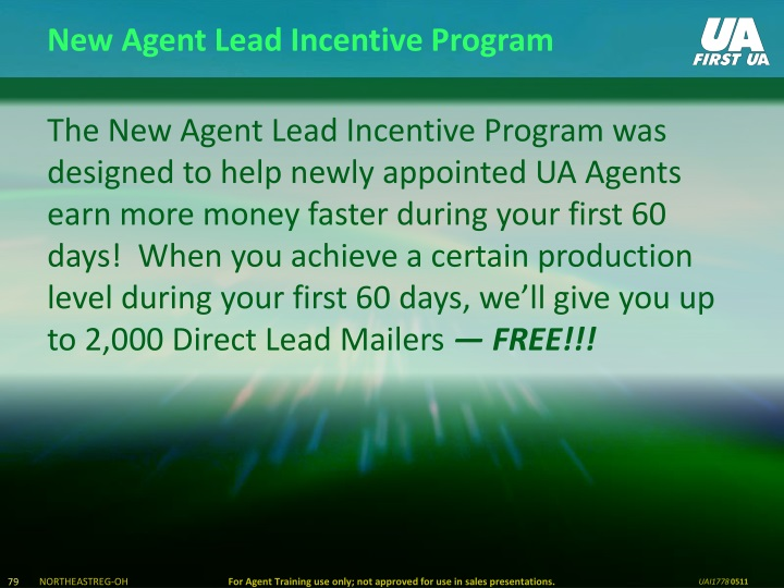 New Agent Lead Incentive Program