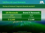 ua first ua level renewals