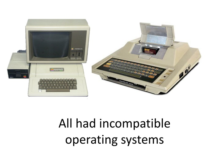 All had incompatible operating systems
