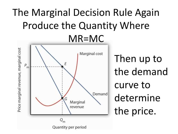 The Marginal Decision Rule Again