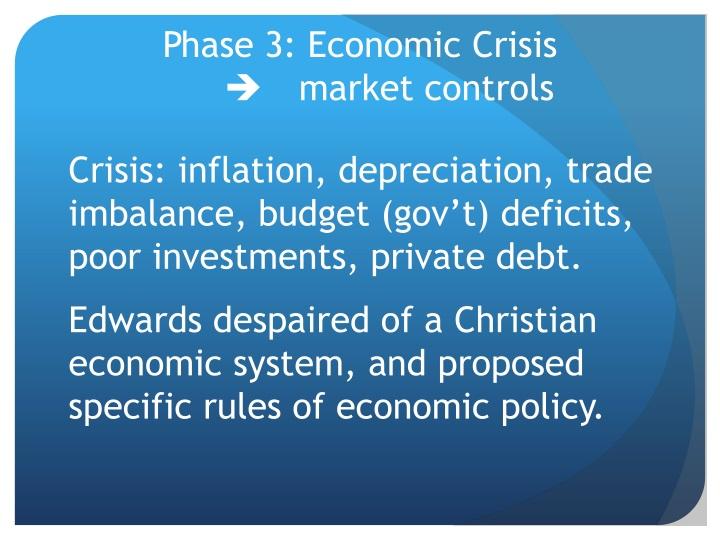 Phase 3: Economic Crisis