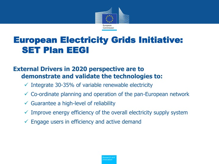 European Electricity Grids Initiative: