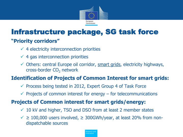 Infrastructure package, SG task force