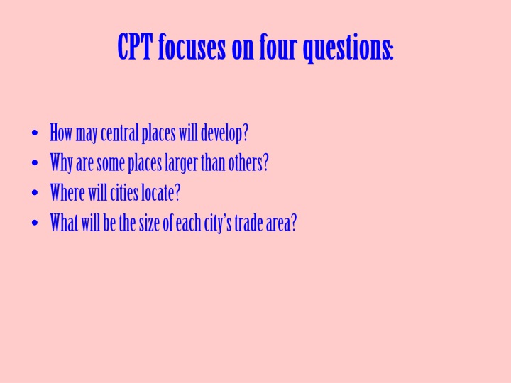 CPT focuses on four questions