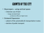 growth of the city
