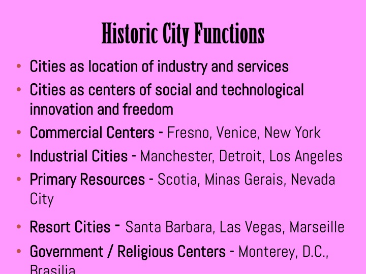 Historic City Functions