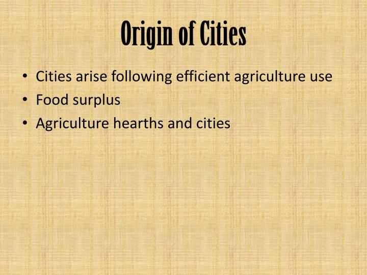 Origin of Cities